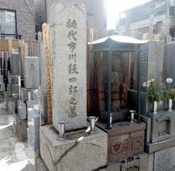 初代市川段四郎墓所