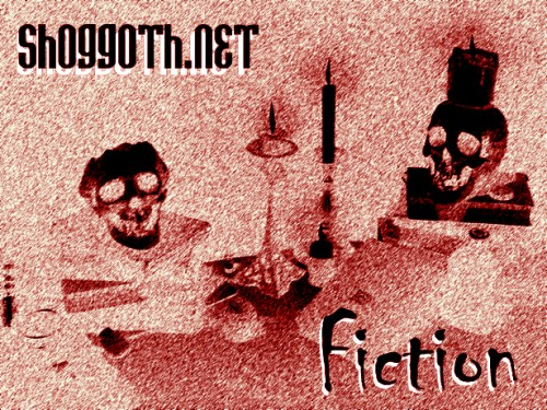 Shoggoth fiction image reverse red