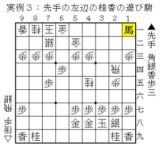形勢判断の実例3(遊び駒)