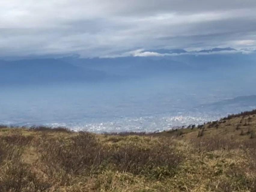 高原から見下ろした松本平