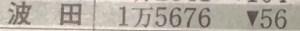 波田の人口
