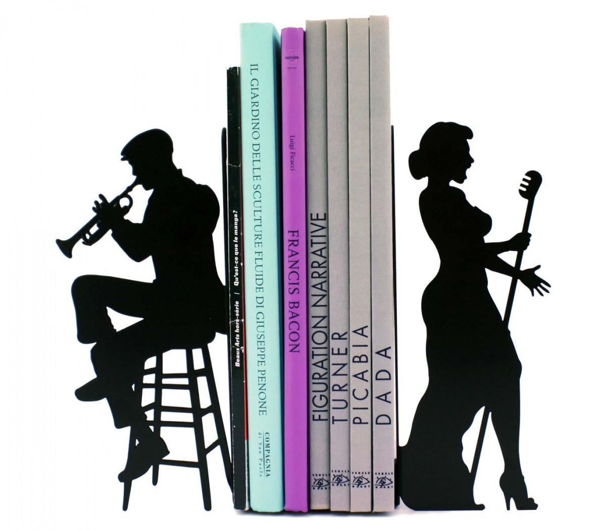 cale disques vinyles presse livres grand format blues pour decoration etageres