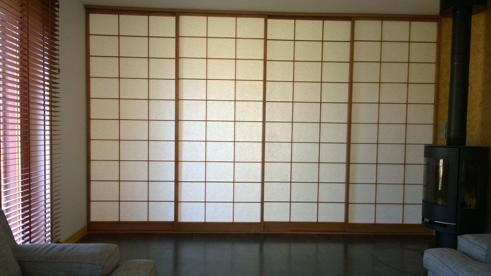 cloison japonaise shoji menuiserie