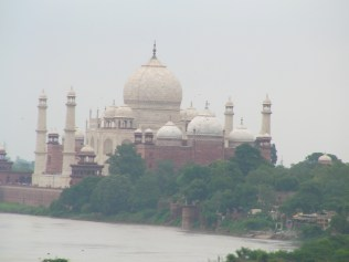 Taj Mahal as seen from the bedroom of the king