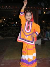 street dancer in yellow skirt