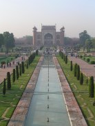 looking from taj towards the entrance gateway