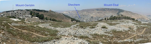 Image result for mount ebal and mount Gerizim