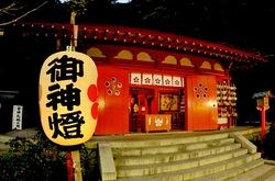 荏柄天神社@鎌倉:漫画家のぼんぼりが並ぶ漫画絵行灯