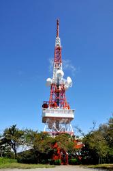 平塚湘南平のテレビ塔と恋人の南京錠
