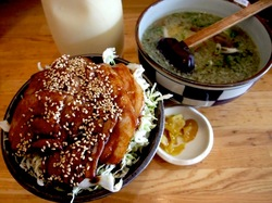 藤沢名物里のうどん石川店@湘南ライフタウンのバラ丼セットマヨネーズ