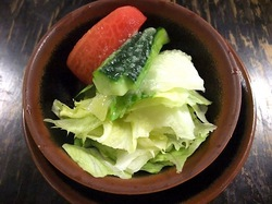 ビーフシチューで有名な北鎌倉去来庵のミニサラダ