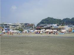 湘南・鎌倉の海水浴場:材木座海水浴場