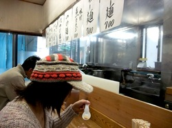 つけ麺藤沢本町はじめの店内