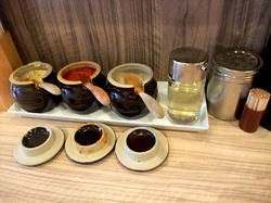 茅ヶ崎(辻堂)の家系豚骨ラーメン清水家の調味料