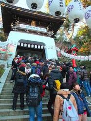 江島神社辺津宮の初詣