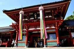 鎌倉鶴岡八幡宮の七夕祭りの本殿