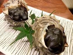 鎌倉のそば懐石峰本のさざえ肝味噌焼き