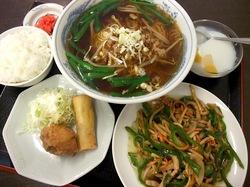 藤沢市善行のリーズナブルな中華店大福の青椒肉絲定食