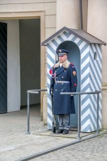 Entrance to Pražský hrad (Prague Castle)