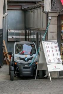 Electric car in Zürich