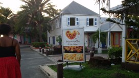 Fred's Belgian Waffles and Ice Cream - popular spot!