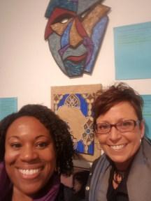 Me and Lori Todd at Cre8ery. Should we bid?