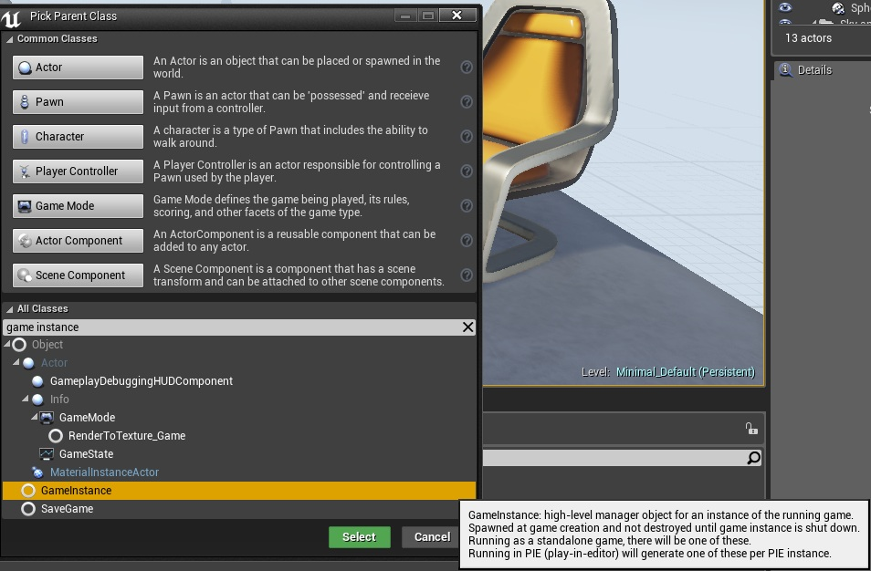 Configuring new project ue4 main classes explanation shooter name it shootergameinstance gameinstance malvernweather Images