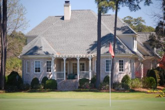 Beautiful golf homes range from the large luxury to the basic