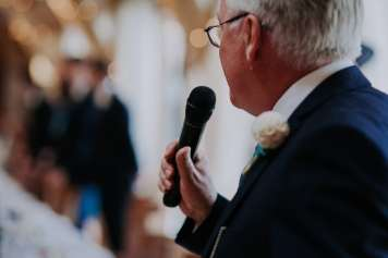 Father of the bride makes a speech