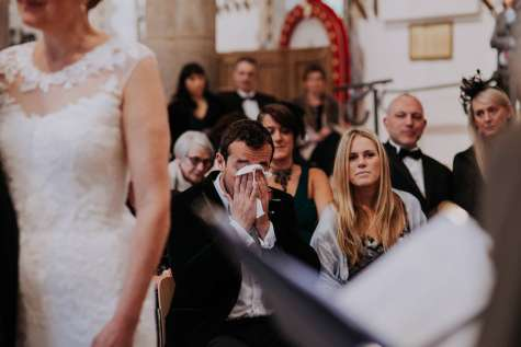 Emotions run high at Oakham Castle Wedding Ceremony