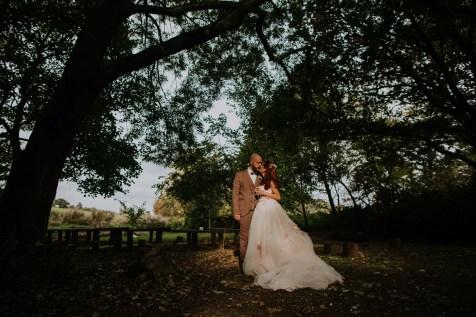 Outdoor autumn wedding