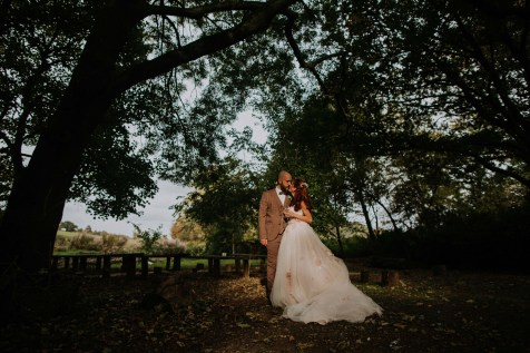 Outdoor autumn wedding