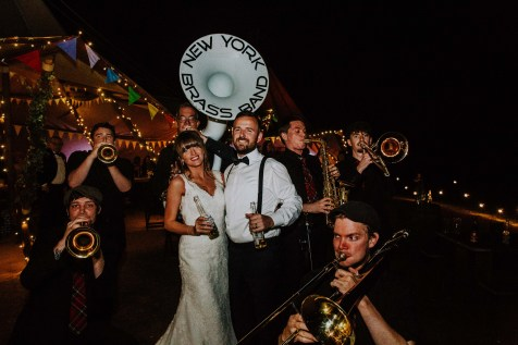New York Brass band wedding party photos