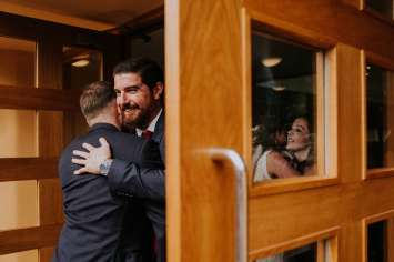 Documentary wedding photography of guests