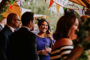 Relaxed festival tipi wedding