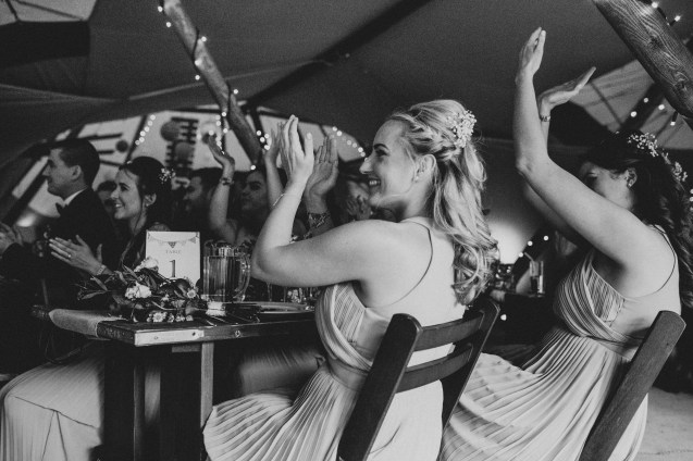 Wedding photography during the speeches