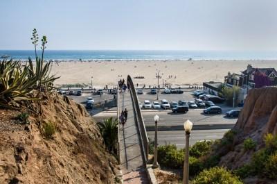 This way to the beach. Santa Monica, CA.