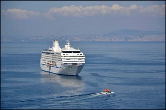 Ship in the Mediterranean.