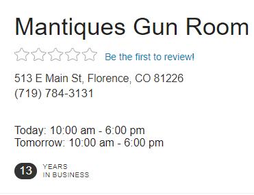 Mantiques Gun Room