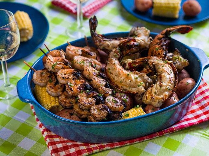 Grilled Shrimp and Lobster