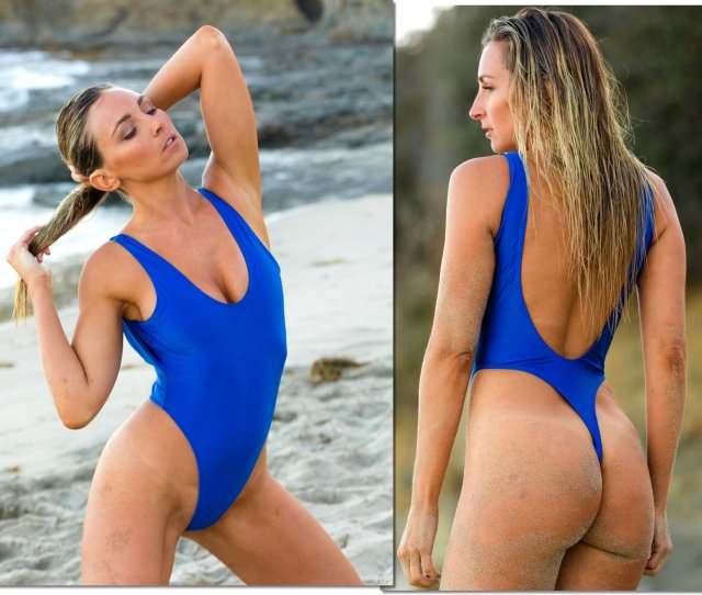 Sexy One Piece Thong Bathing Suit By Brigitewear