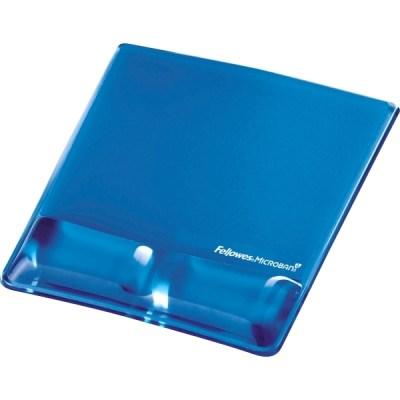 Opora zápästia s podložkou pre myš Fellowes Health-V CRYSTAL gélová Microban