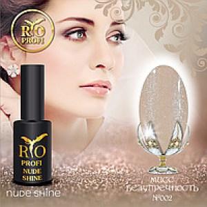 Каучуковый гель-лак Rio Profi серия Nude Shine №2 Мисс Безупречность, 7мл