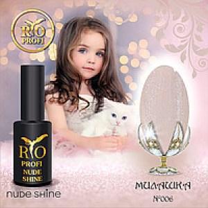 Каучуковый гель-лак Rio Profi серия Nude Shine №6 Милишка, 7мл