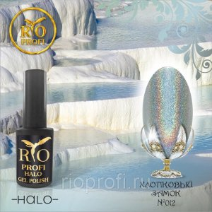 Каучуковый гель-лак Rio Profi cерия Halo №12 Хлопковый Замок, 7 мл