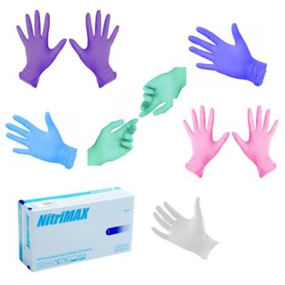 Перчатки нитриловые NitriMAX, размер М. 50 пар