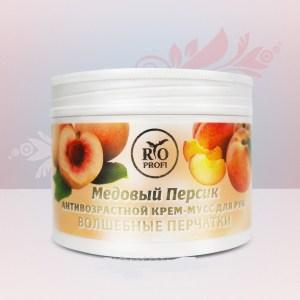Rio Profi Антивозрастной крем-мусс для рук Волшебные перчатки Медовый персик, 150 мл