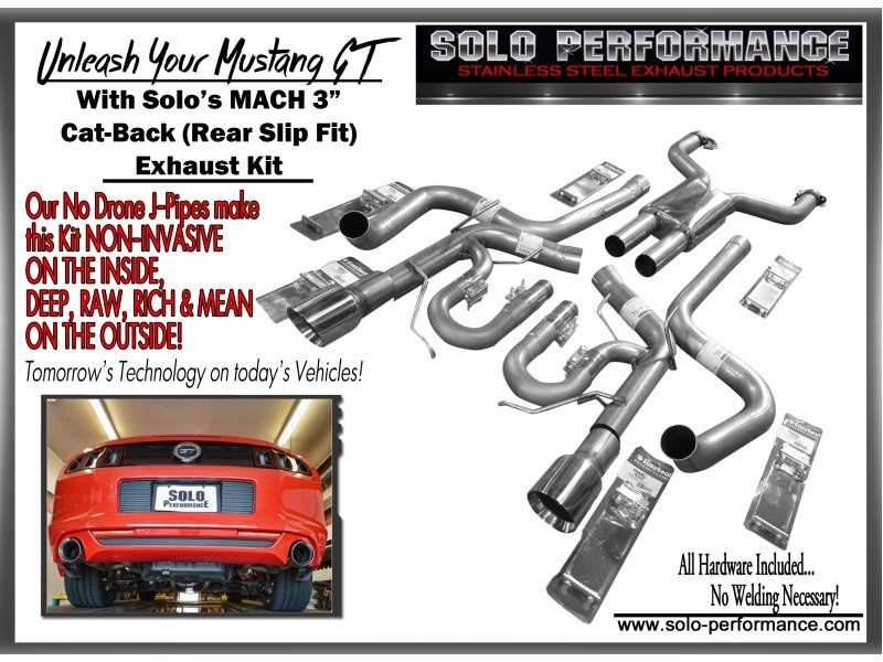 2011 2014 mach exhaust system 5 0l mustang gt