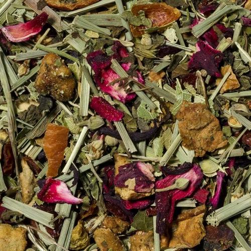 Schöner Abend-Tee auf Kräuterbasis