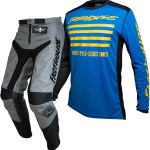Fasthouse Grindhouse Motocross Gear Grey Slash Blue Yellow 28 Only 1stmx Co Uk